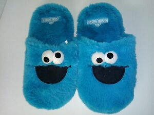 Cookie Monster Adult Slippers Shoes Blue Cookie Monster color blue