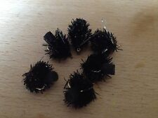 6 Trout Flies Foam Arsed Blob - Black - Trout Lure New
