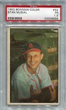 1953 Bowman Color #32  Stan Musial  PSA 1.5  Cardinals  HOF Beckett Hi=700