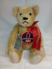 """Deans Teddy Bear by the Patricia Schoonmaker Signature Series 13"""" Tall Red Bow"""