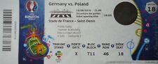 TICKET UEFA EM 16.6.2016 Deutschland Germany - Polen Poland Match 18
