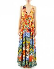 new CAMILLA FRANKS SILK SWAROVSKI MING V NECK KAFTAN DRESS layby available