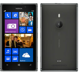 NOKIA LUMIA 925 Unlocked Black 16gb DualCore 8mp Camera Windows Phone Smartphone