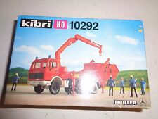 Kibri HO Red Truck with Crane & Hook Kit #10292