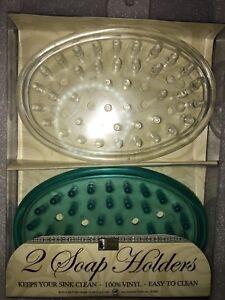 Bar Soap Holder Dish for Shower, Vanity, Sink - Set of 2, Soap Saver, Many Color