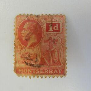 1916 Montserrat KGV 1916 - 22 -1d Red