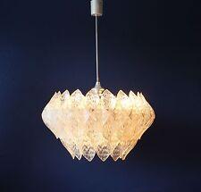 Big 60cm Acryl Glas Pendant Lamp_Pendel Leuchte_Eisglas 60er/70er__Kalmar Ära