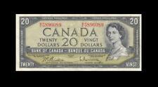 """1954 BANK OF CANADA QEII $20 **Beattie & Rasminsky** """"W/E"""" (( EF ))"""