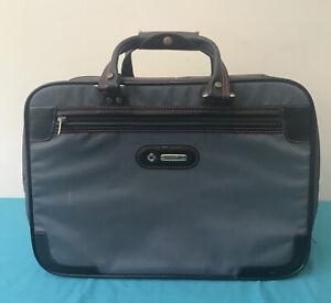 Samsonite Laptop Bag 3 Section Overnight Grey Work Travel Walk On Luggage