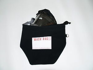 NeatGear Classic Firefighter SCBA Mask Bag with Carrying Handle Black