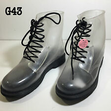 Translucent Rubber Boots Atmosphere Primark Lace Up Womens Size UK 7