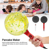 Electric Crepe Maker Pizza Machine Pancake Device Home Household Cookware Pan