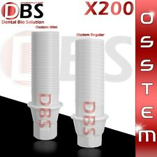 200X Dental Plastic Abutment Osstem Regular / Mini Platform With Hex + Screw
