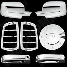Chrome Covers Mirror 2 Door Handle Taillight Gas For Dodge Ram 2500 3500 10-15