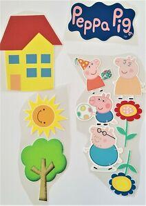 PEPPA PIG 10 PIECE PRECUT EDIBLE CAKE TOPPER CAKE PACK FONDANT OR WAFER CARD