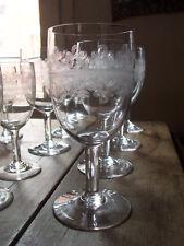 VERRES à pied CRISTAL gravé style BACCARAT rohan -verre à eau Bourgogne Bordeaux