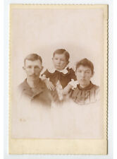 Cab Card Studio Portrait Of Young Family