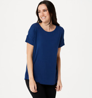 Cuddl Duds Softwear with Stretch Short Sleeve Tee - Night Navy - Small