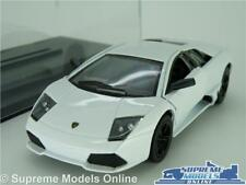 LAMBORGHINI MURCIELAGO MODEL CAR LP640 1:36 SIZE WHITE + DISPLAY CASE KINSMART K