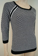 Cotton 3/4 Sleeve Geometric Jumpers & Cardigans for Women