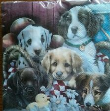 30 Cocktail Lunch Paper Napkins 2 Ply Snack Nankin party favor Dog Puppy Duck