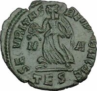 VALENTINIAN I 364AD Ancient Roman Coin Nike Victory Cult Angel  i37530