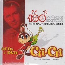 SEALED - Cri Cri CD NEW 100 Anos De Exitos SET 4 CD's + 1 DVD ORIGINAL Nuevo