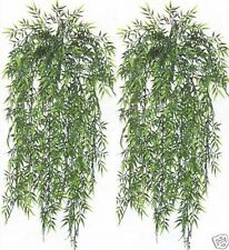 """2 BAMBOO IVY BUSH 32"""" ARTIFICIAL PLANT OUTDOOR GARLAND POOL PATIO DECK TOPIARY"""