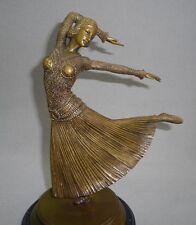 Art Deco Bronze Figur Russische Ballett Tänzerin Ayouta nach Demetre H. Chiparus