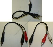 "6""inch RCA Y/T Splitter, ALL MALE Audio/Video Adapter Cable/Cord/Wire"