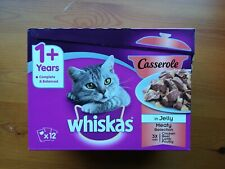 Whiskas Adult 1+ Casserole Fish and Meaty Selection in Jelly Cat Food, 85g