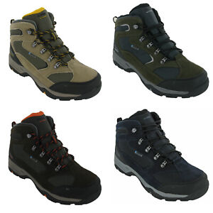 Hi-Tec Walking Waterproof Boots Mens Storm Leather Mesh Lace Up Hiking Trail