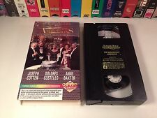 The Magnificent Ambersons Colorized Classic Drama VHS 1942 Orson Welles Cotten