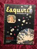 ESQUIRE Magazine May 1950 Al Moore Pinup Elizabeth Taylor Muky Lisa Larsen