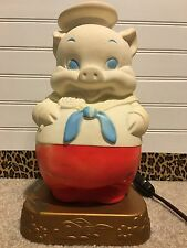 Vitnage 1958 Edward Mobley Pig Night Light Lamp Rubber Working Condition