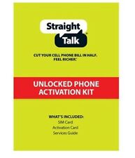 Straight Talk Nano Micro Standard Sim Card For At&T T-mobile Verizon Byop Kit