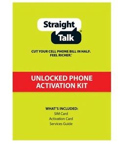 Straight Talk Standard Or Micro Sim Cards X3 For Your Cell Phones