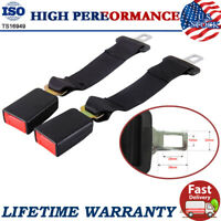 "2PCS 14"" Universal Car Seat Safety Belt Extender Seatbelt Extension 7/8"" Buckle"