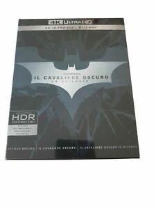 cof, nuovo+3 blu ray Il Cavaliere Oscuro La Trilogia 4K ULTRA HD+BLU RAY