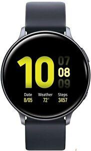 New Samsung Galaxy Watch Active 2 44mm LTE SS Case SM-R825 Black/Gold Unlocked