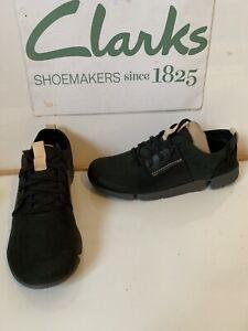 Clarks Trigenic Black Leather Shoes Size UK 5.5 EU 39