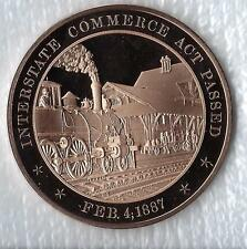 +1887 - Railroad Train; Interstate Commerce Act Passed - Solid Bronze Medal
