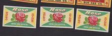 Ancienne petite étiquette allumettes Chine BN122146 Fleur Rose