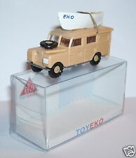 MICRO TOY EKO TOYEKO HO 1/86 1/87 SPAIN LAND ROVER SAFARI + CANOE REF 6001 BOX