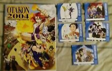 OTAKON 2004 Anime Convention Program Guide Book & Badge Set