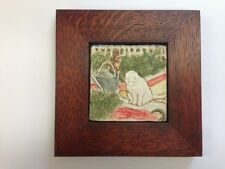 B.A. Schmidt Peter and White Cat Art Tile Family Woodworks Arts & Crafts Frame