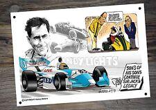 Sir Jack Brabham Tribute Metal Tin Man Cave A4 Cartoon Sign By Stonie