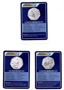 CHANGE CHECKER Trading Cards X 3 -OLYMPICS BADMINTON 50 - BASKETBALL --SQUIRREL