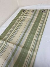 eyelet  Curtains  green stripe Ready Made  curtains