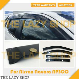 Weathershields Weather shields for Nissan NP300 Dual Cab NP300 D23 Sun Visors #J